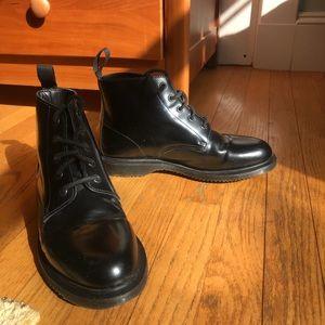Dr. Martens Emmeline 5-Eye Black Leather Boots US8